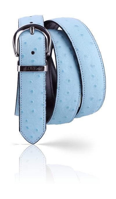 ceinture autruche bleue
