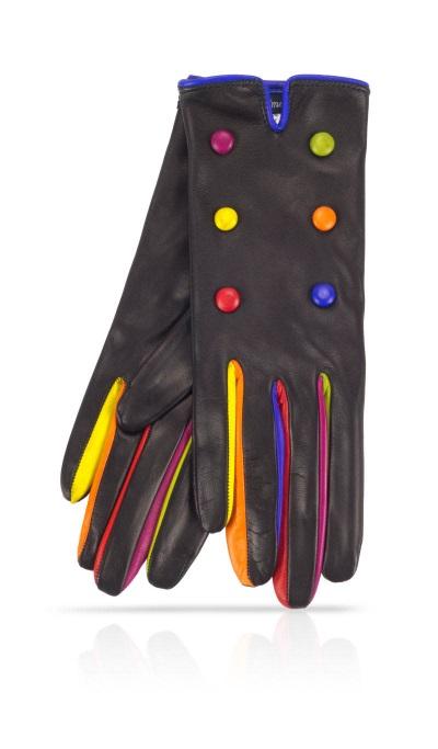 gant bouton multi color
