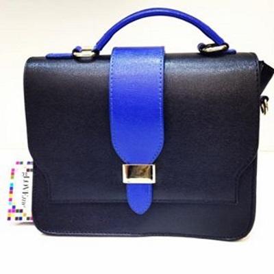 sac bi color noir et bleu